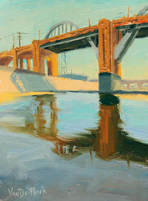 AFTERNOON AT 6TH STREET BRIDGE, KIM VANDERHOEK