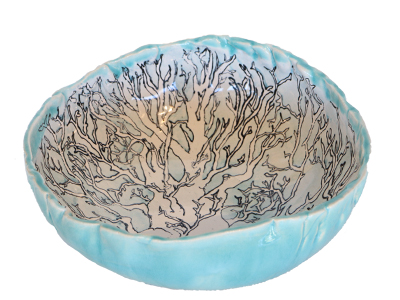 BLUE TREE LINE DRAWN BOWL, SABRINA WELD