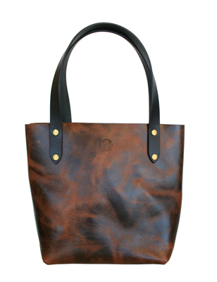 WINTER WOLF LEATHER - VASKA TOTE, DARK BROWN - LEATHER