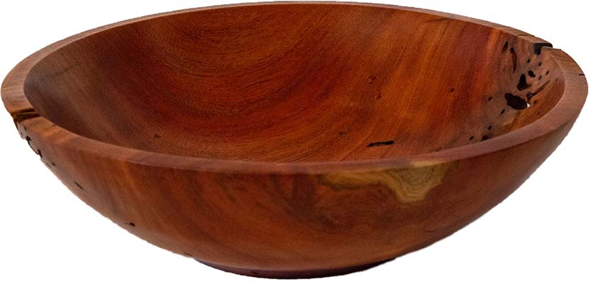 CAROB BOWL WITH WALNUT OIL FINISH, JONATHAN WEAVER