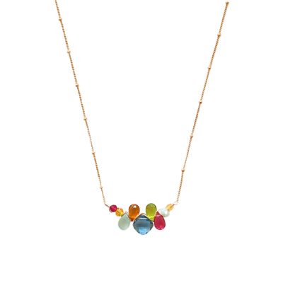 ANNA BALKAN - SPINEL & MIXED GEMSTONE NECKLACE - GEMSTONES