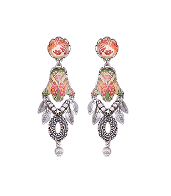 AYALA BAR - CORAL CAVE EARRING - BEADS