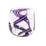 DOTTIE BOSCAMP - SQ PURPLE PAPERWEIGHT - GLASS - 2.25 X 2.25 X 2.25