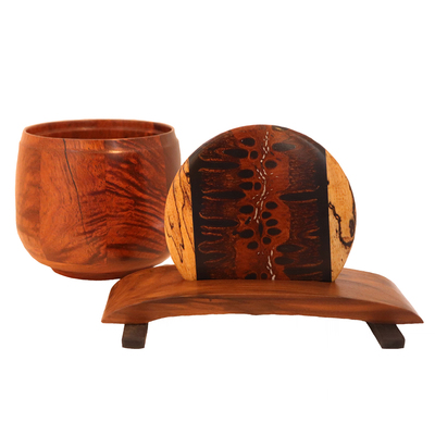 TOM BORUSKY - MESQUITE KEEPSAKE BOX & BARKSIA LID WITH RESIN - WOOD
