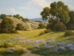 DAVE CHAPPLE - AFTERNOON SHADOWS - OIL ON BOARD - 16 x 12