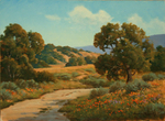 DAVE CHAPPLE - COUNTRY ROAD - OIL ON BOARD - 16 x 12