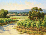 DAVE CHAPPLE - SUMMER VINES - OIL ON BOARD - 16 x 12