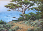 DAVE CHAPPLE - CYPRESS - OIL ON BOARD - 12 X 16