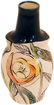 MARIA COUNTS - FLORAL FOREST VASE - CERAMIC - 3 1/8 X 4 1/2 X 9