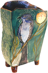 MARIA COUNTS - EVENING SONGBIRD VASE - CERAMIC - 2 1/8 X 7 1/2 X 12