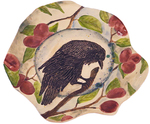 MARIA COUNTS - CONTEMPLATING CROW PLATTER - CERAMIC - 1 X 13 1/2 X 2 3/4