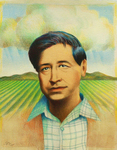 RAUL COLON - CESAR ESTRADA CHAVEZ - WATERCOLOR & PENCIL - 10.25 X 13