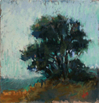 DORI DEWBERRY - THE TREE ON THE OTHER SIDE OF THE ROAD - PASTEL - 6 X 6