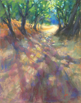 DORI DEWBERRY - SANTIAGO CREEK HIKE - PASTEL - 11 X 14