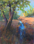 DORI DEWBERRY - SHADY CREEK - PASTEL - 9 X 12