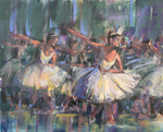 DORI DEWBERRY - FRACTURED MOVEMENTS - PASTEL - 20 X 16
