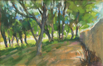 DORI DEWBERRY - DOWN THE PATH - PASTEL - 9 X 6