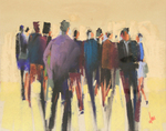 DORI DEWBERRY - THE CROWD - PASTEL - 10 X 8