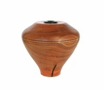 MICHAEL EVANS - RED GUM EUCALYPTUS HOLLOW FORM W/ EBONY INSERT - WOOD - 6 X 6 X 6