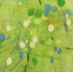 JANE GUTHRIDGE - LIGHT THRU BAMBOO 6 - ENCAUSTIC - 12 X 12