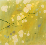 JANE GUTHRIDGE - FLOATING WORLD 5 - ENCAUSTIC - 17.5 X 17.5