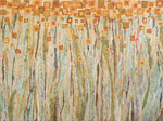 JAMES GROLEAU - MIDSUMMER FIELD - MIXED MEDIA ON CANVAS - 48 X 36