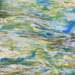 NANCY GOLDMAN - TRANQUILITY - ENCAUSTIC - 15.75 X 15.75