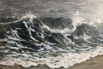 NANCY GOLDMAN - MISTY SEAS - ENCAUSTIC - 24 X 36
