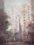 JULIE HILL - 6TH STREET - WATERCOLOR - 12 X 16