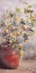 JULIE HILL - LEMON TREE - WATERCOLOR - 10 X 20