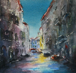 JULIE HILL - VENETIAN COLORS - WATERCOLOR - 6 X 6