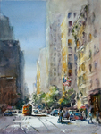 JULIE HILL - SAN FRANCISCO II - WATERCOLOR - 12 X 16