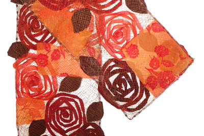 MARY HAMMOND - FIRE ROSE SCARF - FIBER