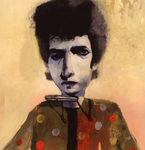 STACY INNERST - BOB DYLAN - DIGITAL PRINT - 9 x 9