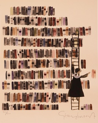 STACY INNERST - LIBRARY - ARCHIVAL PRINT - 11 X 14