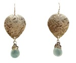 JOANNA CRAFT - EARRINGS WITH LIGHT GREEN GEMS - MIXED METALS