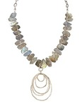 JOANNA CRAFT - NECKLACE WITH LABRADORITE - MIXED METALS