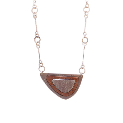 JOANNA CRAFT - LAYERED HALFMOON NECKLACE - MIXED METALS