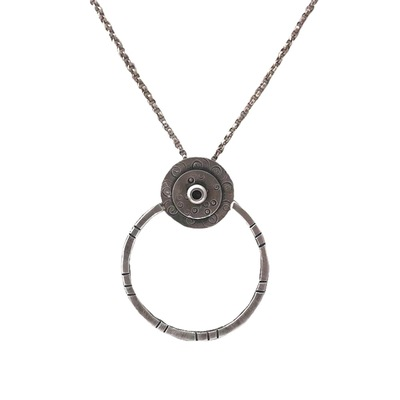 JOANNA CRAFT - OPEN CIRCLE SILVER NECKLACE - STERLING SILVER