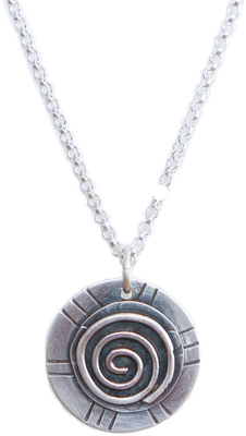 JOANNA CRAFT - SILVER SPIRAL ROUND NECKLACE - STERLING