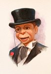 JOHNSON AND FANCHER - CHARLIE MCCARTHY - MIXED MEDIA - 4 X 6.5