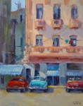 STEVE KELL - OLD HAVANA 2 - OIL ON BOARD - 8 x 10