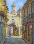 STEVE KELL - OLD HAVANA - OIL ON BOARD - 8 x 10