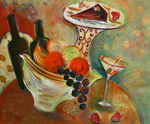 JOYCE LIEBERMAN - JOI DE VIVRE - ACRYLIC ON CANVAS - 24 X 20