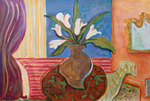 JOYCE LIEBERMAN - CALLA LILLIES - ACRYLIC ON PAPER - 40 X 30