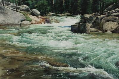 JASON LI - WHITEWATER - WATERCOLOR - 33 X 22
