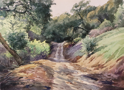 JASON LI - TRAIL III - WATERCOLOR - 12 x 9