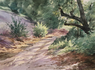 JASON LI - TRAIL IV - WATERCOLOR - 12 x 9