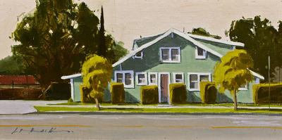 GREG LAROCK - THIS OLD HOUSE - OIL - 16 X 8