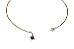 MADSTONE - MELTING ICE CUFF NECKLACE IN AMETHYST - 18K GOLD